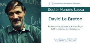 David Le Breton profesor la Universitatea din Strasbourg afis Doctor Honoris Causa SNSPA