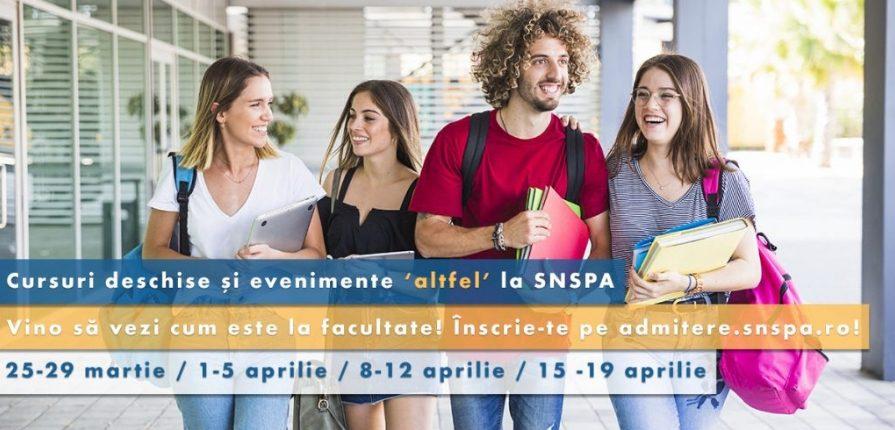 Tineri cursuri deschise scoala altfel SNSPA 2019