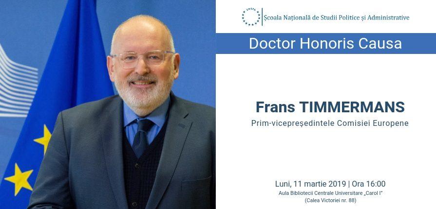 Afis Frans Timmermans Doctor Honoris Causa al SNSPA